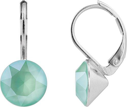 petra kupfer Damen Ohrringe Ohrhänger Rivoli 1 Swarovski®-Kristall 9 mm Mint Grün Mint Green Versilbert hk39tb-mint-green