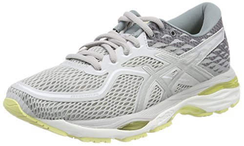 Asics Gel-Cumulus 19, Scarpe Running Donna, Grigio (Glacier Grey/Silver/Lime Light), 39.5 EU
