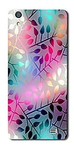 SEI HEI KI Silicon Printed Designer Back Cover for LYF Water 4 - Multicolor