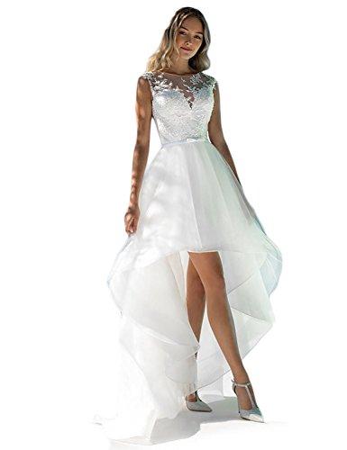 Carnivalprom Damen Hi-Lo Hochzeitskleider Elegant Applikation Brautjungferkleider...