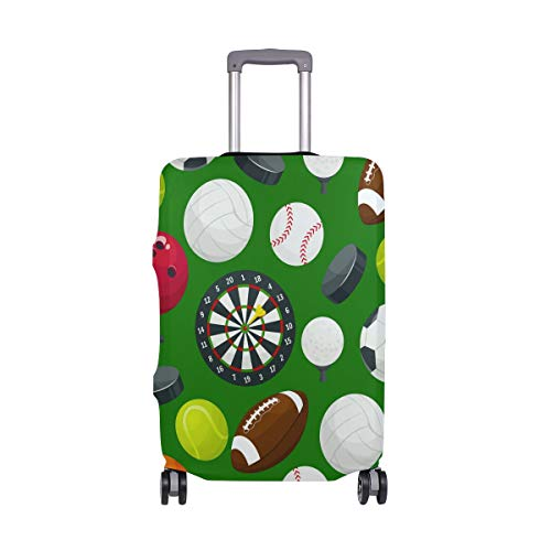 ALINLO Sport-Muster, für Fußball, Baseball, Basketball, Gepäck, Koffer, Reiseschutz, passend für 45,7-81 cm, Mehrfarbig (Mehrfarbig) - sdv6464sdb254