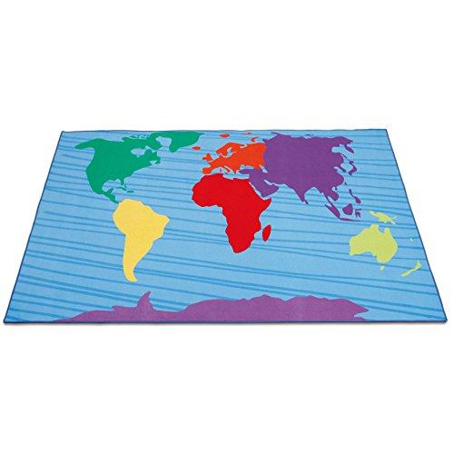 Erzi Alfombra 300x 200x 1cm, continentes alemán Juguete de madera