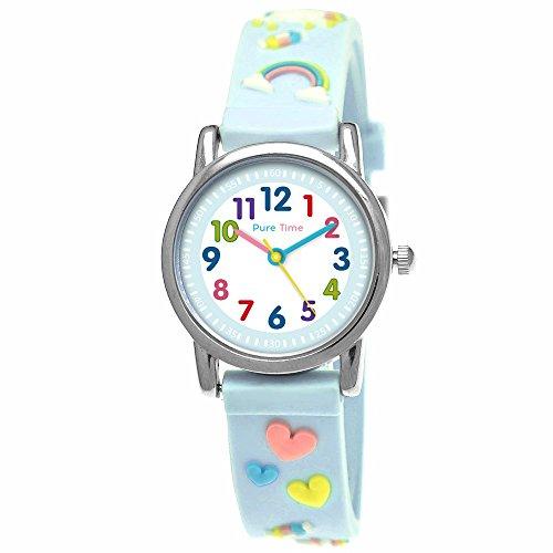 Pure Time® Einhorn Unicorn Kinder-Uhr Mädchen-Uhr Kinder Armband-Uhr Pferd Pony Tier Armband Mädchen Uhr Kinderuhr Bunt Weiß Rosa Türkis Gelb Rot Blau Sport-Uhr Lern-Uhr Schul-Uhr 3D