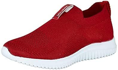 Bourge Women's Micam-101 Red Running Shoes-5 UK (37 EU) (6 US) (Micam-101-05)
