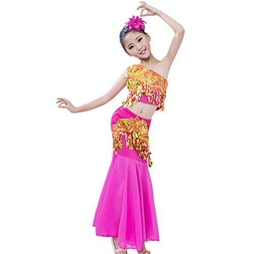 Tenthree Tanzsport Bekleidung Mädchen Röcke Bauchtanz - Belly Moderner Dance Costumes Team Uniformen Fasching Kostüme Darbietungen Kleidung ()