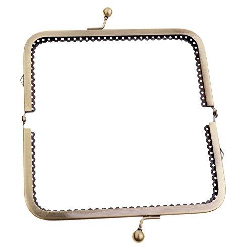 Baoblaze Retro Taschenverschluss Metallbügel mit Klippverschluss Taschenrahmen Taschenbügel zum Einnähen Taschenzubehör - Gold