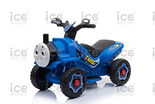 toyzz KIDS NEW THOMAS TRAIN STYLE MOTORBIKE RIDE ON TRICYCLE 6V BATTERY CAR BIKE WITH STEAM (Blue)