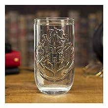 Paladone Harry Potter Shaped Hogwarts Glass | Wizarding World Drinking Style, Multicolour, 14 x 10 x 10 cm