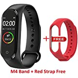 Adlyn M3 Smart Fitness Band, Fitness Tracker Watches for Men | Women | Kids | Unisex Sports Activity Tracker Watch Step Counter Calories Burned, Sleep Monitor SMS, Call Reminder, Camera Shoot (Black)
