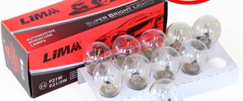 10x (pieza) BAY15D lámpara Lima P21/5W 21W + 5W 12V Auto Bombilla...