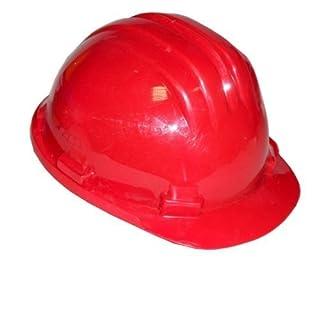 Bauhelm EN 397 6-Punkt-Aufhängung Sturzhelm Forsthelm Arbeitshelm (rot)
