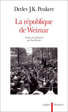 LA REPUBLIQUE DE WEIMAR. Années de cris...