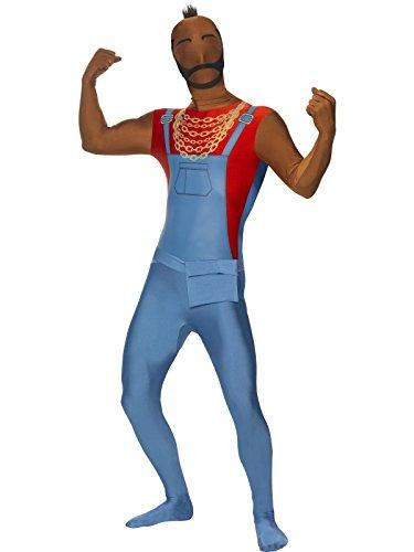 Mr T Second Skin Suit Costume, Größe:L