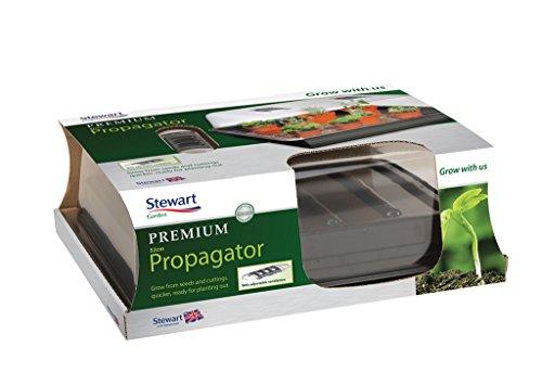Stewart Essentials pour semis, Noir – 38 cm Qualité supérieure (couvercle en polystyrène rigide transparent - non électrique) Large - 52 cm Noir