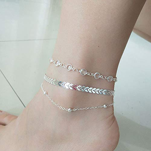 Bobopai Women Girls Ankle Chain Anklet Bracelet Foot Jewelry Sandal Beach - Bohemian Style - Kind Bender Kostüm