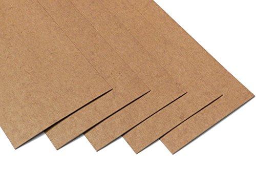 Ollexo SnapPap waschbares Papier Snap Pap (Set aus 5 Bögen) (10x21 cm, Hellbraun) -