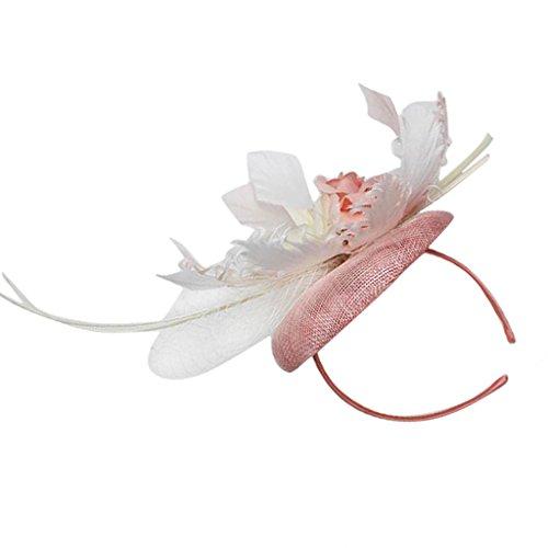 Elegante Dame Blumen Feder Spitze Augenmaske Masquerade Halloween-Party Kostüm - (Feder Augenmaske Kostüme)