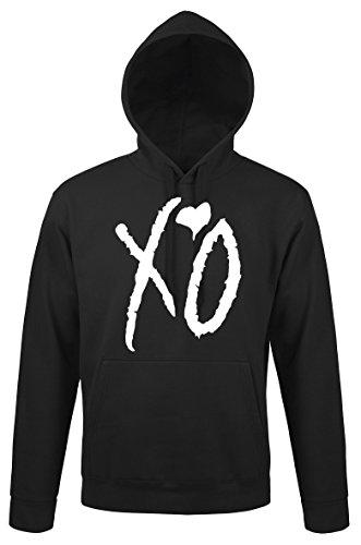 TRVPPY Herren Hoodie Kapuzenpullover Modell XO The Weeknd, Schwarz, XL