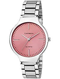 Laurels Alice Pink Dial Analog Wrist Watch - For Women