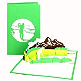 '3d pop-up tarjeta 'Tarjeta de jugador de golf Golf Golf, vacaciones, divertido ruhes tandkarte, tarjeta de jubilación o a la aprobación de compañeros, hombre golfista