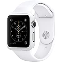 Apple 38 mm Silver Aluminium Watch with White Sport Band