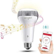 Sengled Pulse Solo Ampoule LED E27 avec Haut Parleur Bluetooth JBL, Ampoule LED Intelligente Contrôlée Via App, Equivalent 40W, Blanc Chaud 2700K, Fonctionner avec Amazon Alexa