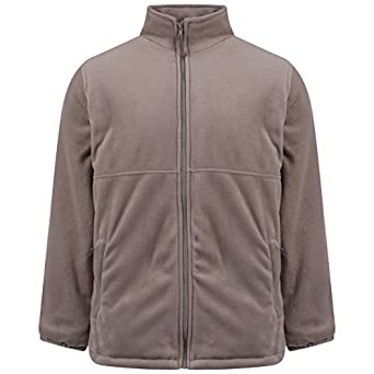 Ladies Thick Anti Pill Padded Warm Fleece Jacket: Amazon.co.uk ...