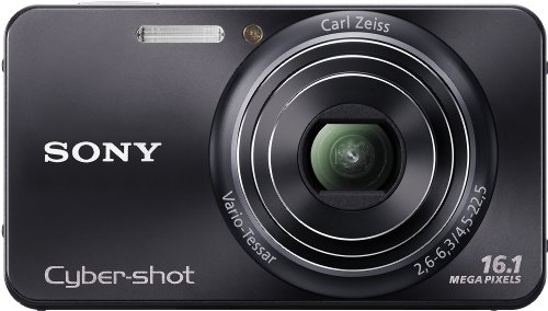 Sony DSC-W570B Digitalkamera (16 Megapixel, 5-fach opt. Zoom, 6,9 cm (2,7 Zoll) Display, bildstabilisiert) schwarz