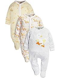 next Bebés Niños Niñas Unisex Paquete De 3 Pijamas Pelele Pato Tonos Brillantes (0 Meses-2 Años)