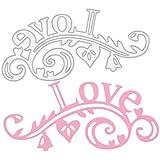 YNuth Plantilla para Estarcir Troquel de Corte de Acero al Carbono para DIY Scrapbooking del Diseño de Letras LOVE