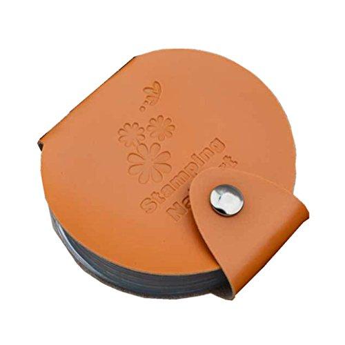 Stampaggio arte DIY del chiodo del piatto di immagine Holder Modello di sacchetto filtro di Stamp Organizer(Arancia), Fami