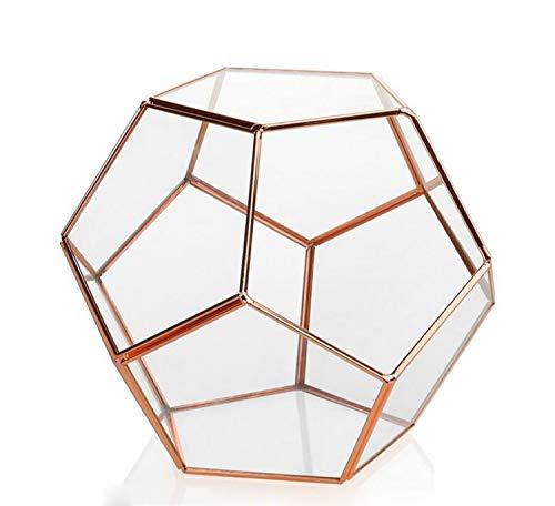 NUO-Z Mini Klar Dodekaeder Pentagon Glas Geometrische Terrarium Kleine Für Sukkulente Glasvase 20X20X17 cm