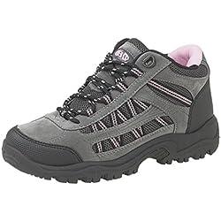 DEK - Botas de senderismo para mujer multicolor Multicolore - Grey/Pink 6 UK