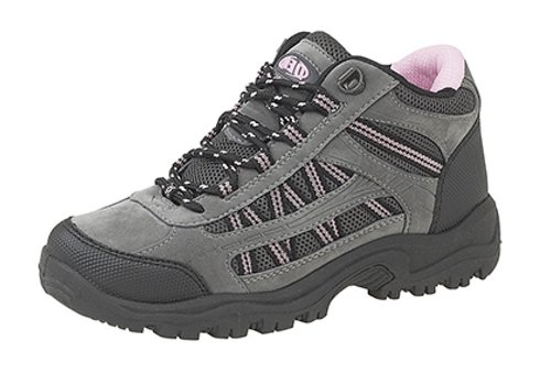 New Dek Ladies Womens Grigio Rosa Nero Escursionismo Walk Trekking Trail Boots Grau / Rosa