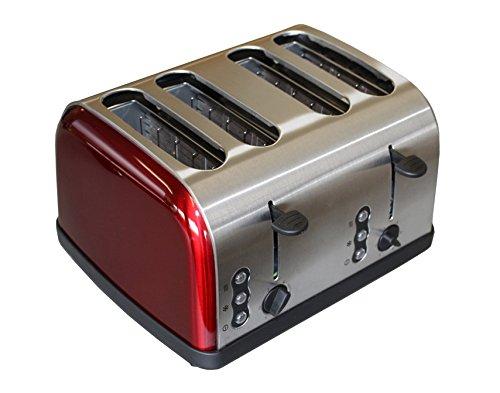 4 Scheiben Toaster Sandwich Röster separat Regelbar 1500 Watt in Edelstahl