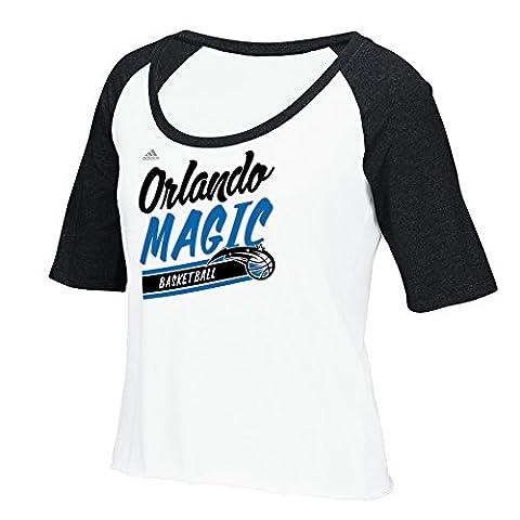 NBA Orlando Magic Women's Stripe Slant Short Sleeve Color Block