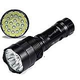 HCFKJ SupwildFire 40000Lm 16x CREE XML T6 5 Modus Taschenlampe Licht Lampe