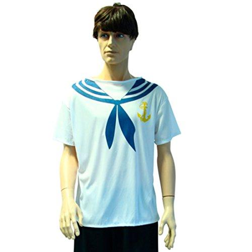 Amakando Kostüm Marine Matrosenkostüm Seemann M/L 50/52 Bootsmann Matrosenshirt Matrosen Verkleidung Marine T-Shirt Kostüm Matrose Erwachsene (Matrose Und Bootsmann Kostüm)