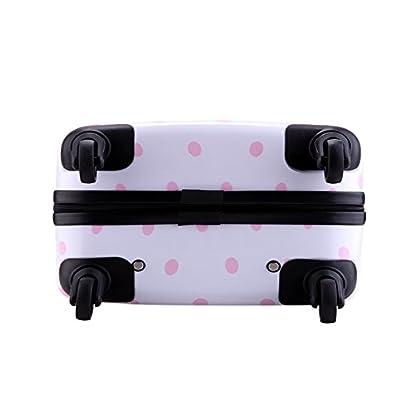 410RLB7XIQL. SS416  - Equipaje de cabina niña 55 cm infantil rigida 4 ruedas ABS+PC Trolley pequeño Partyprince 08121 (Negro)