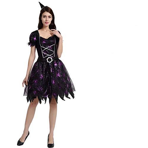 thematys Hexenkleid Hexen Kostüm-Set für Damen - perfekt für Fasching, Karneval & Halloween - Einheitsgröße 160-180cm (Halloween-kostüme Frau Hexe)