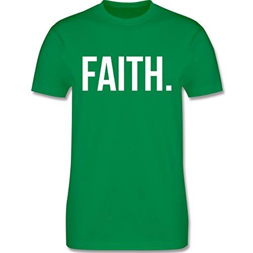 Statement Glaube Religion - Faith Glaube weiss - Herren T-Shirt Grün