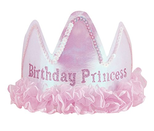 """Diadem aus Satin mit Aufschrift """"Birthday Princess"""" (Disney Princess Kronen)"""