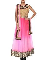 Kalki Fashion Pink Ombre Anarkali Embellished In Zari Embroidery Only On Kalki