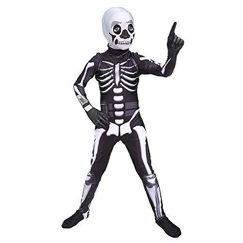 ASJUNQ Schädel Ritter Halloween Kostüm Festung Nacht Siamese Strumpfhosen Kostüm Party Thema Party Movie Requisiten,Child-S