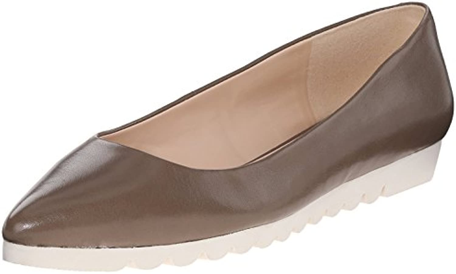 Nine West Women'S Underway Leather Ballet Flat, Grey, 38.5 B(M) EU/6.5 B(M) UK