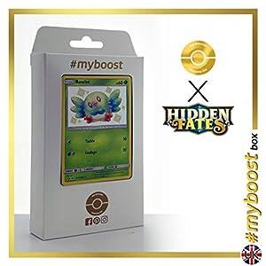 Rowlet SV2/SV94 Variocolor - #myboost X Sun & Moon 11.5 Hidden Fates - Box de 10 cartas Pokémon Inglesas