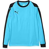 Puma Liga GK Jersey Jr T-Shirt, Niños, Aquarius/Black, 152