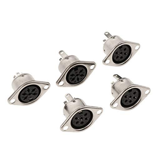 8-pin-weiblich-anschluss (Gazechimp 5pcs DIN Stecker Buchse 3-polig 4-polig 5-polig 6-polig 7-polig 8-polig weiblich - 6 Pin)