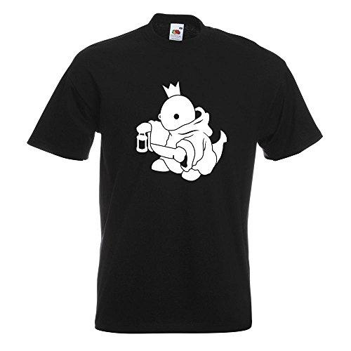 KIWISTAR - Boss Fight King König T-Shirt in 15 verschiedenen Farben - Herren Funshirt bedruckt Design Sprüche Spruch Motive Oberteil Baumwolle Print Größe S M L XL XXL Schwarz