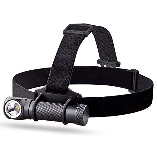 MCCC 1000 Lumen CREE XM-L2 U2 LED wiederaufladbare Camping Scheinwerfer Scheinwerfer Mini Taschenlampe für Notfall mit Einer 18650 Akku, One Akku Ladegerät